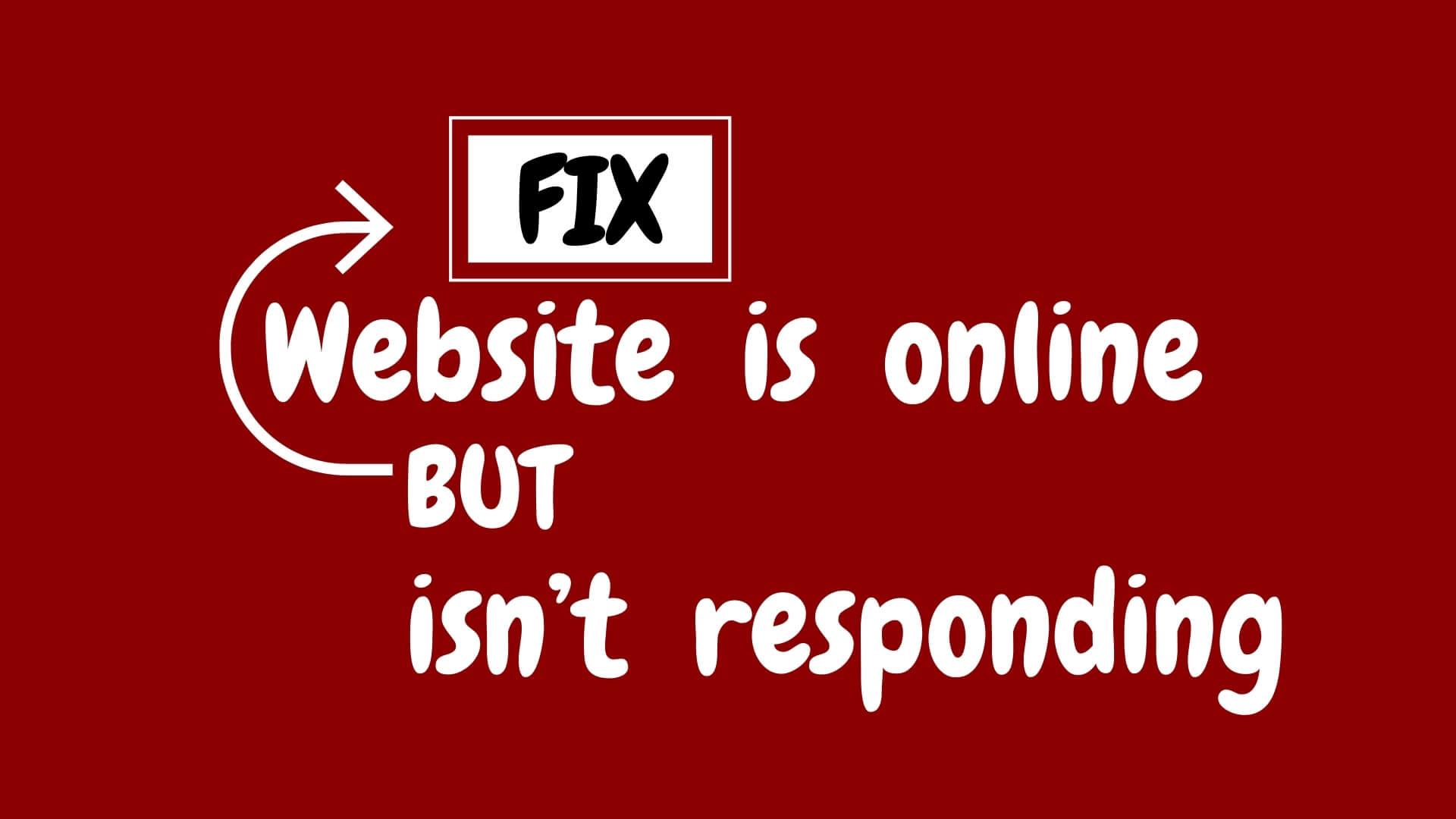 Website is Online But isn't Responding