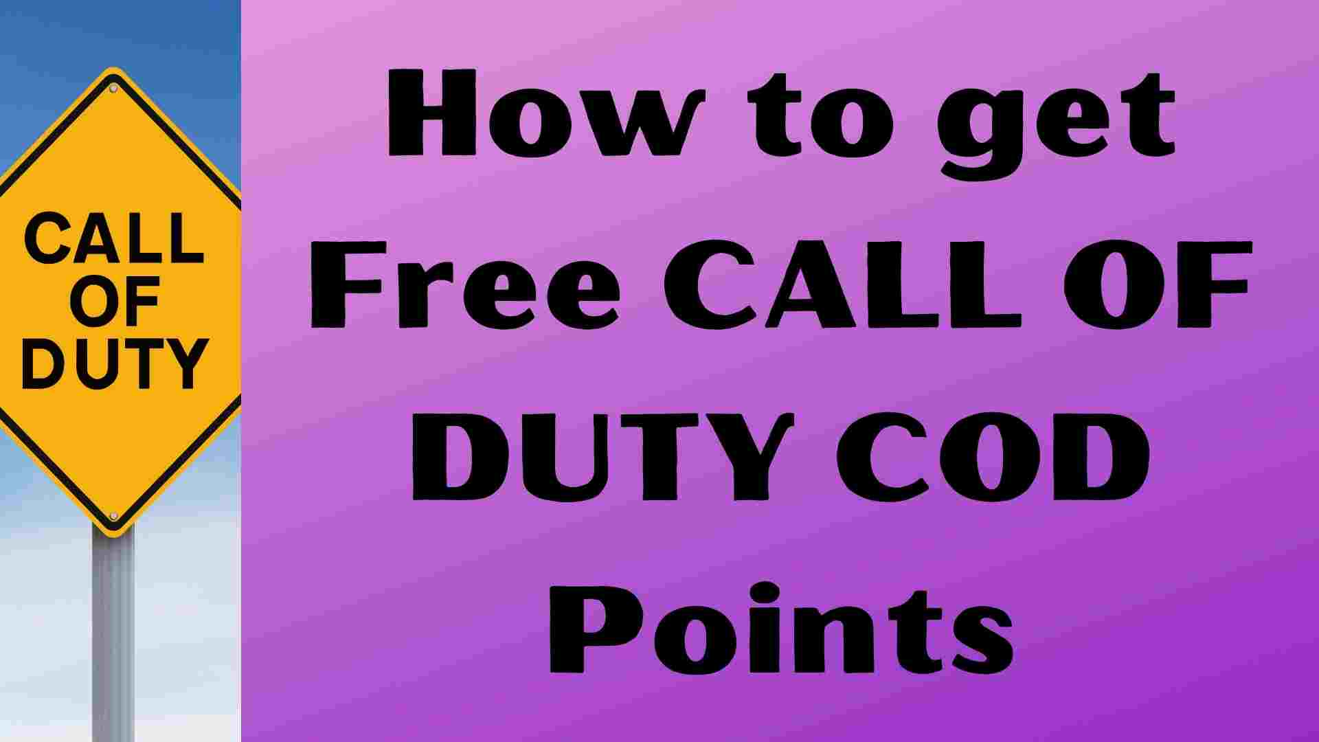 How to get Free Call Of Duty COD Points